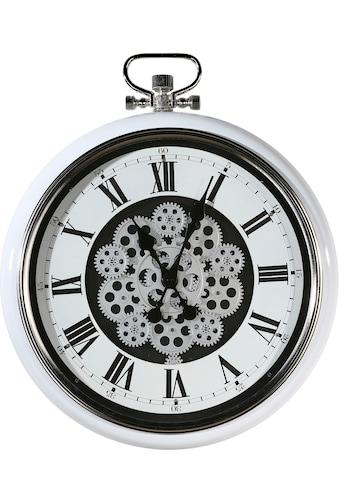 Casablanca by Gilde Wanduhr »Origin, weiß/silberfarben«, rund, Ø 52 cm, aus Metall,... kaufen
