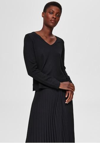 SELECTED FEMME V - Ausschnitt - Pullover »SLFINKA« kaufen