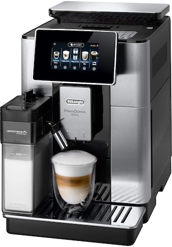 De'Longhi Kaffeevollautomat »PrimaDonna Soul ECAM 610.75.MB mit Kaffeekannenfunktion, silber«, inkl. Kaffeekanne im Wert von UVP € 29,99 kaufen