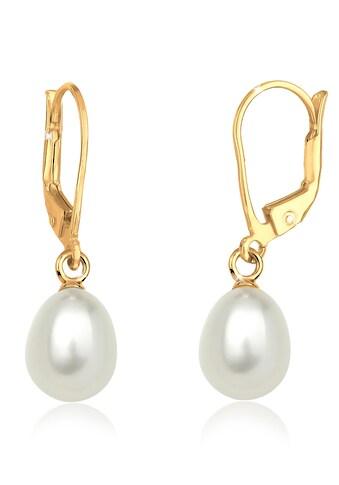 Elli Paar Ohrhänger »Süßwasserzuchtperle Basic Klassisch 925 Silber« kaufen