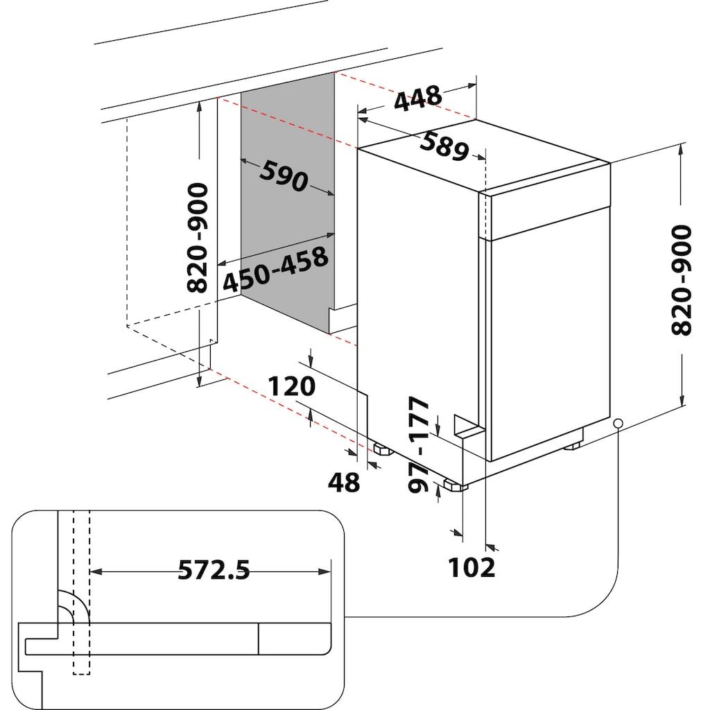 BAUKNECHT Unterbaugeschirrspüler »BSUO 3O21 PF X«, BSUO 3O21 PF X (2), 10 Maßgedecke