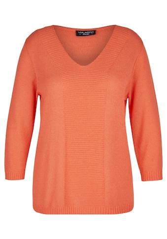 VIA APPIA DUE V-Ausschnitt-Pullover, mit unifarbenem Strick-Muster kaufen
