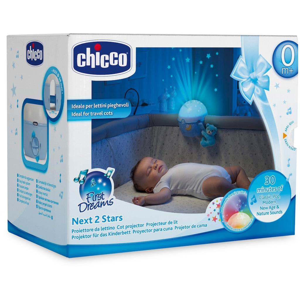 Chicco Nachtlicht »First Dreams Next 2 Stars, Hellblau«, mit Projektor und Soundfunktion