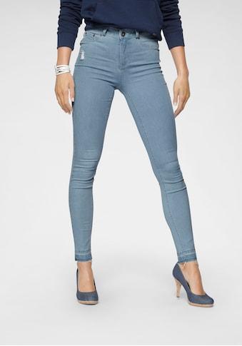 Arizona Skinny-fit-Jeans »Ultra Stretch«, High Waist mit offenem Saum kaufen