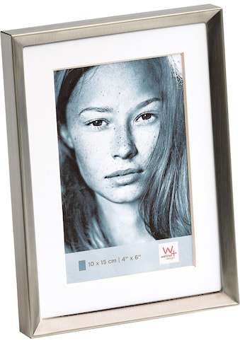 Walther Portraitrahmen »Emma«, Fotorahmen, mit Passepartout, grau kaufen