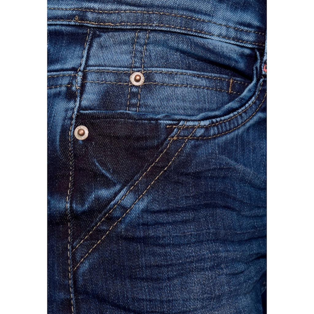Cecil Jeansshorts »Style Toronto«, mit Used-Waschung
