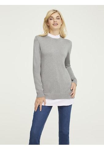 Pullover mit Webbesatz kaufen
