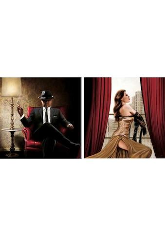 Home affaire Kunstdruck »John Silver, Black Tie, high Heels«, 2-tlg. kaufen