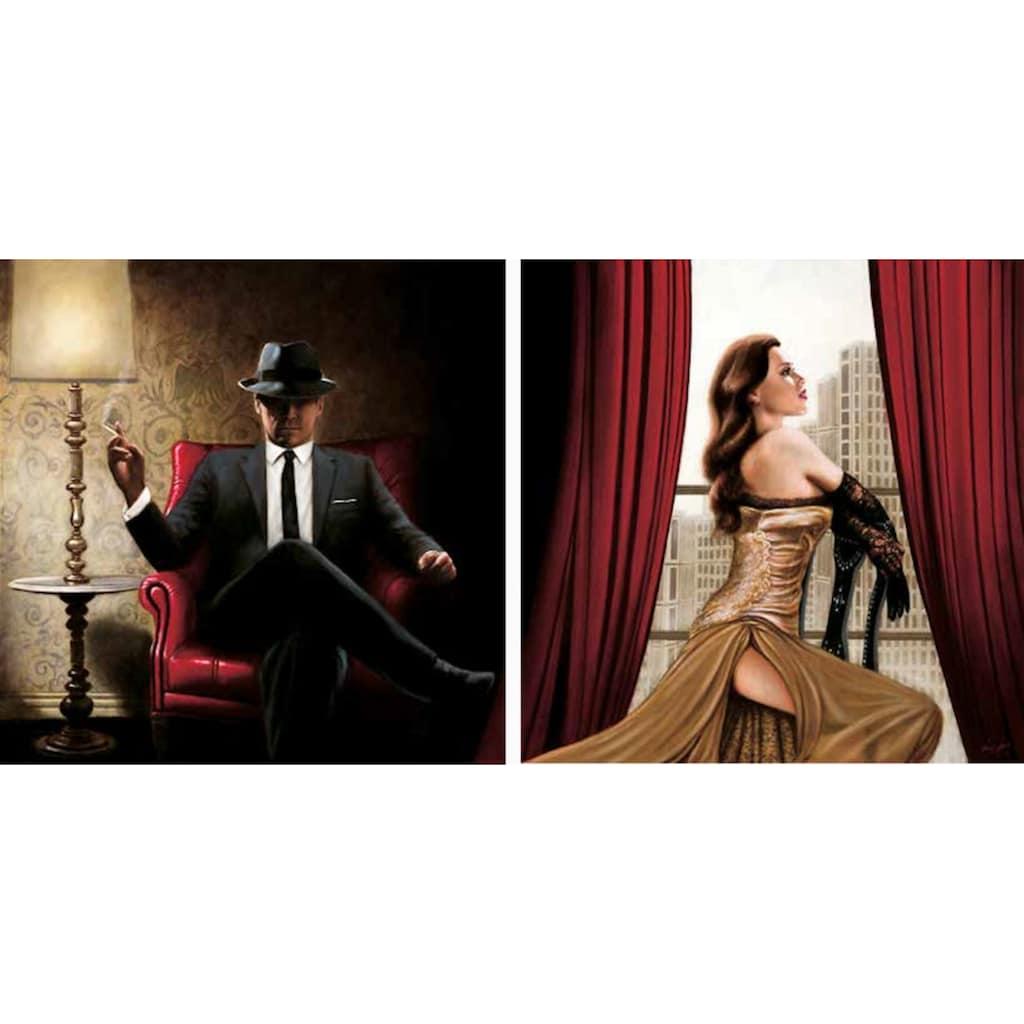 Home affaire Kunstdruck »John Silver, Black Tie, high Heels«, 2-tlg.