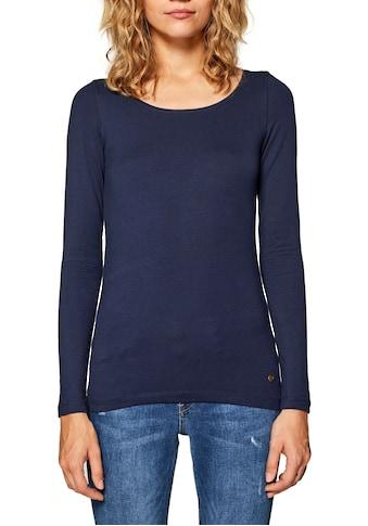 Esprit Langarmshirt, im Basic Look kaufen
