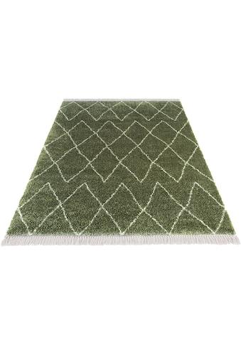 MINT RUGS Hochflor-Teppich »Jade«, rechteckig, 35 mm Höhe, pastell Farben mit Fransen,... kaufen