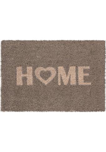 Andiamo Fußmatte »Kokos Home Heart«, rechteckig, 15 mm Höhe, Fussabstreifer, Fussabtreter, Schmutzfangläufer, Schmutzfangmatte, Schmutzfangteppich, Schmutzmatte, Türmatte, Türvorleger, Kokosmatte, mit Spruch, In- und Outdoor geeignet kaufen