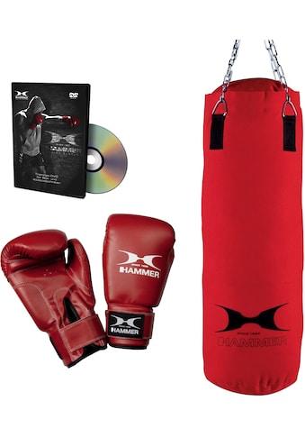 Hammer Boxsack »Fit«, (Set, mit Trainings-DVD-mit Boxhandschuhen) kaufen