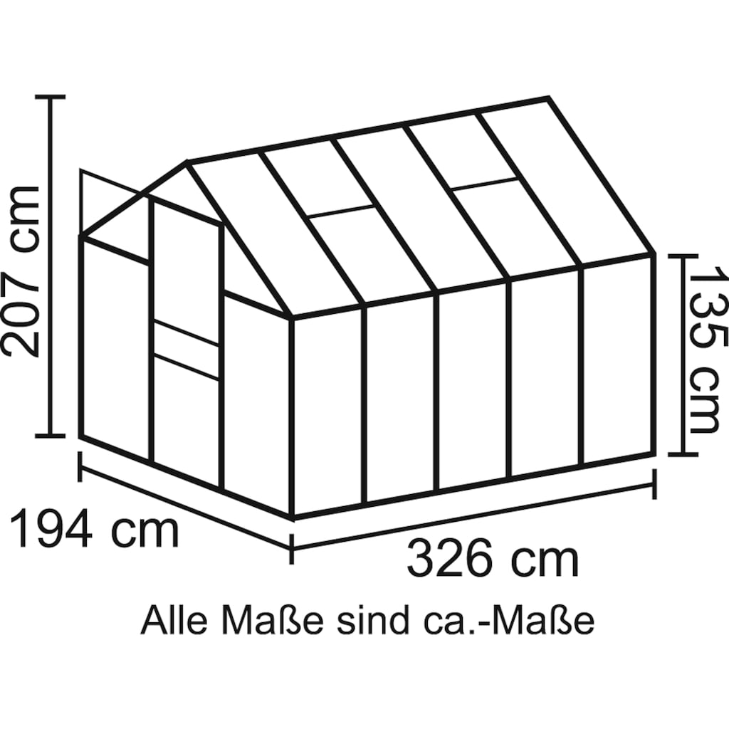 Vitavia Gewächshaus »Apollo 6200«, (Spar-Set)