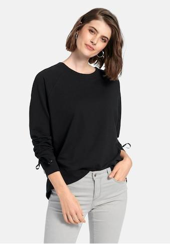 Looxent Sweatshirt »Sweatshirt«, mit Raffungen am Arm kaufen