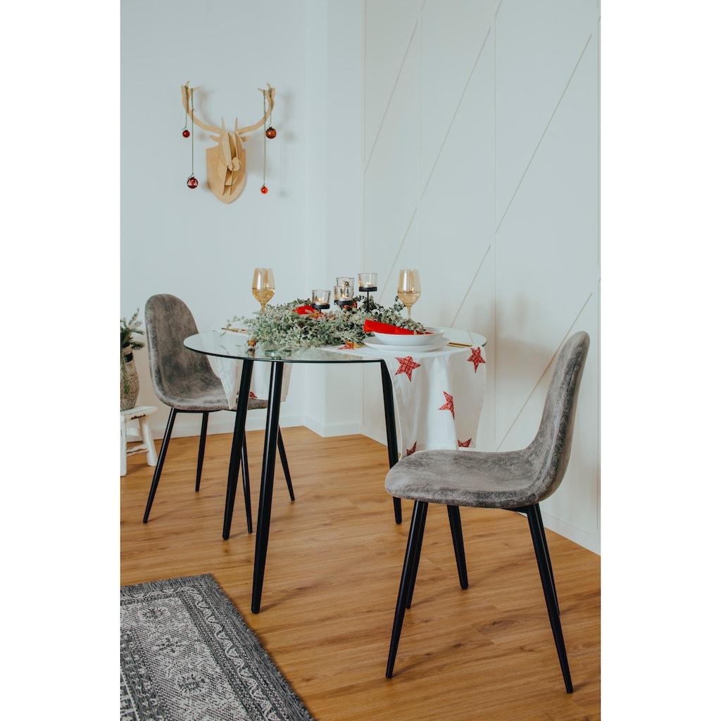 my home Glastisch »Danny«, runder Esstisch mit einem Ø von 100 cm