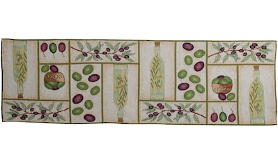 SPRÜGEL Tischläufer »Olivenöl«, (1 St.), Gobelin kaufen