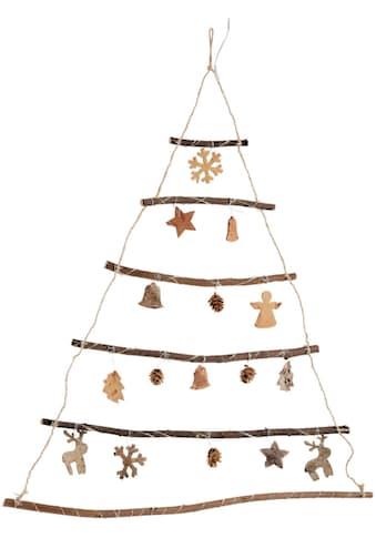 LED Baum »Tannenbaum«, Warmweiß, Wanddeko aus Holz mit 75 warmweißen LEDs, Höhe ca. 80 cm kaufen