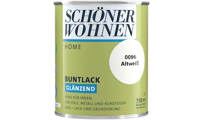 SCHÖNER WOHNEN-Kollektion Lack »Home Buntlack«, glänzend, 750 ml, altweiß kaufen