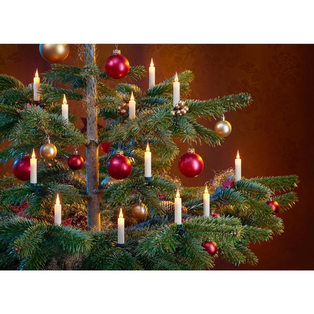 BONETTI LED-Christbaumkerzen, kabellos, 20 Kerzen mit Acrylflamme, neue Technologie, täuschend echt