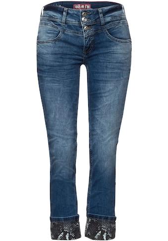 STREET ONE 7/8-Jeans »Jane«, mit Schlangenmuster-Detail kaufen