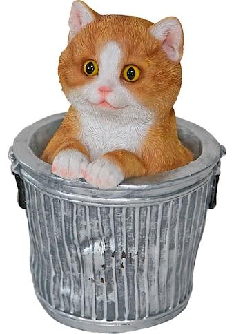 Casa Collection by Jänig Tierfigur, Katze schaut aus Eimer, Höhe ca.20,3 cm kaufen