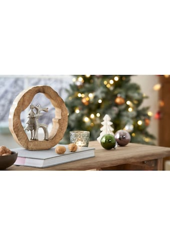 Tierfigur »Hirsch Magnus«, aus Holz und Aluminium, in rustikaler Optik kaufen