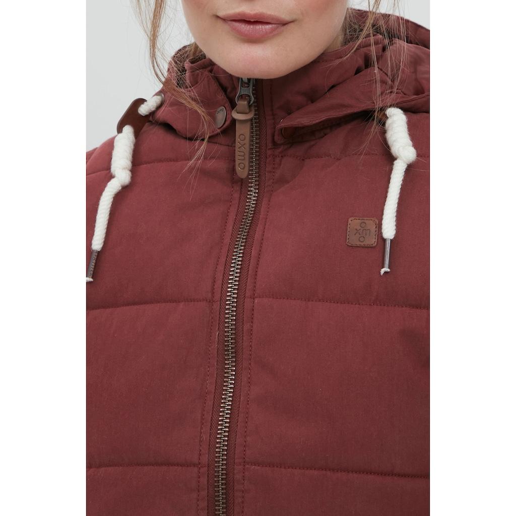 OXMO Steppweste »Lew«, Weste mit abnehmbarer Kapuze