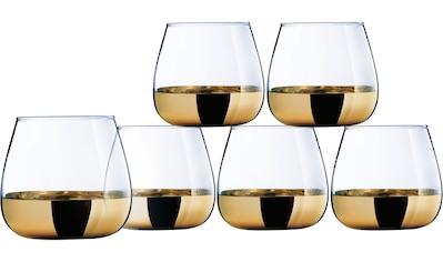 Leonique Whiskyglas »Donella«, (Set, 6 tlg.), mit hochwertigem Golddekor, 6-teilig kaufen