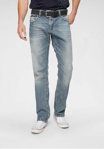 CAMP DAVID Loose-fit-Jeans »CO:NO:C622«, mit markanten Nähten kaufen