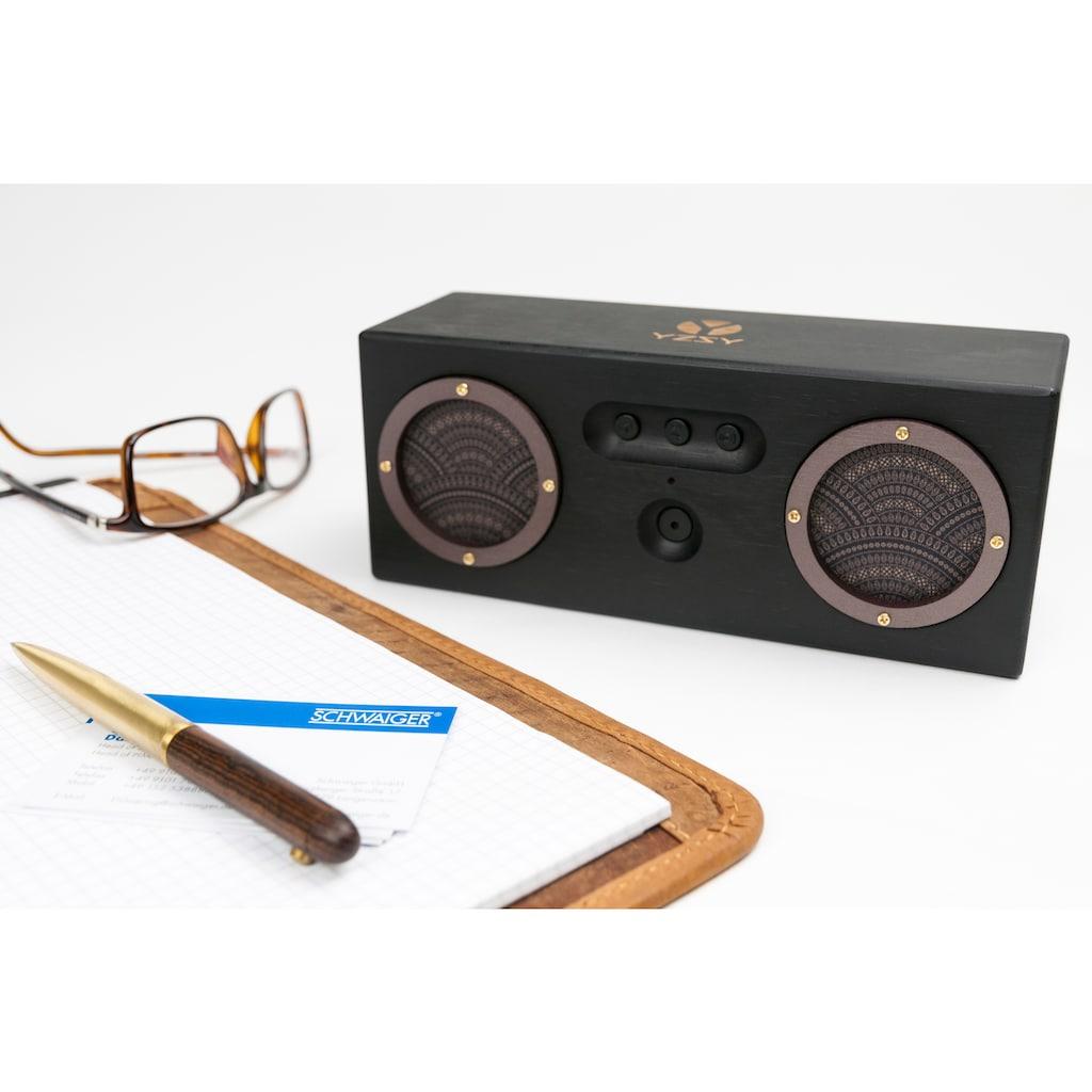 Schwaiger Tragbarer Bluetooth Lautsprecher Holz Bambus Bamboo Boxen