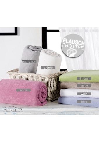 Soft Frotte Spannleintuch mit Rundumgummi, Matratzenhöhe bis 30 cm, Florella kaufen