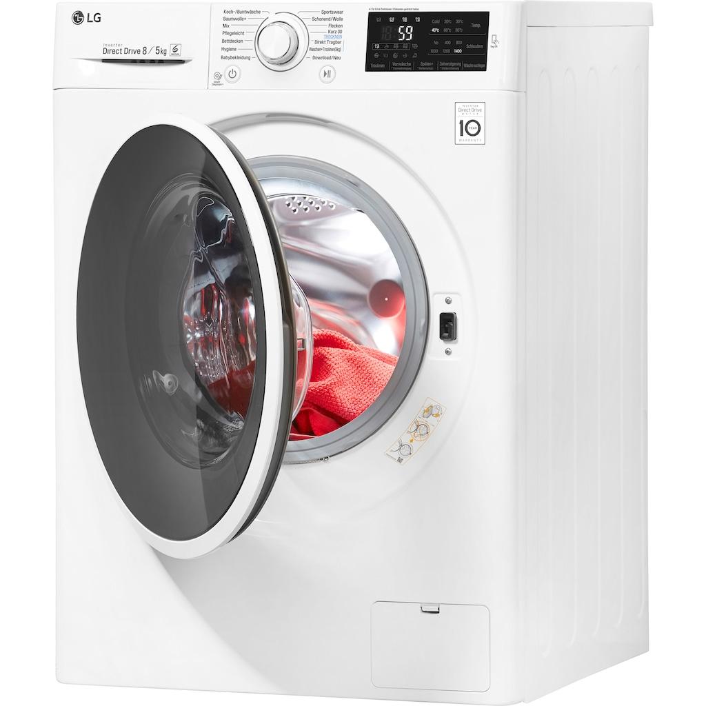 LG Waschtrockner F14WD85EN0, 8 kg / 5 kg, 1400 U/Min