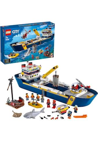 LEGO® Konstruktionsspielsteine »Meeresforschungsschiff (60266), LEGO® City Oceans«,... kaufen