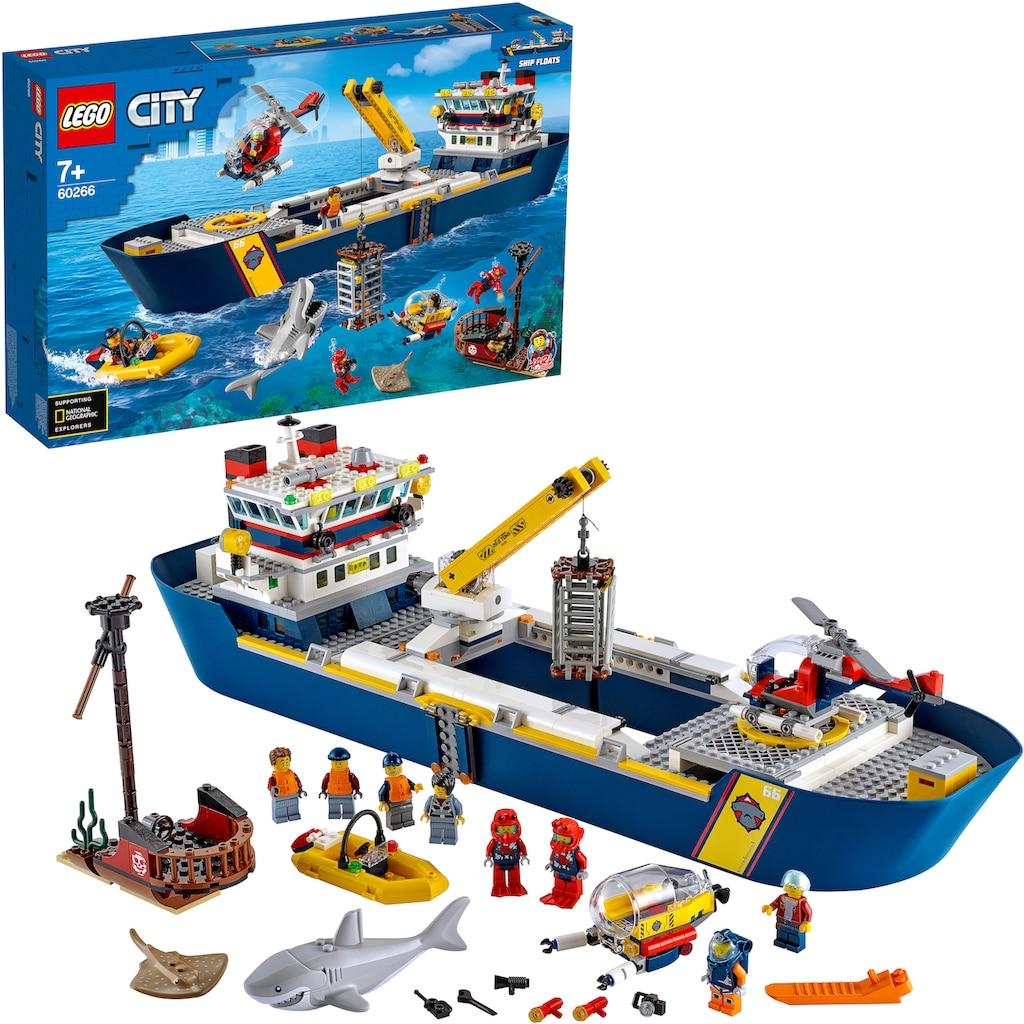LEGO® Konstruktionsspielsteine »Meeresforschungsschiff (60266), LEGO® City Oceans«, (745 St.), Made in Europe