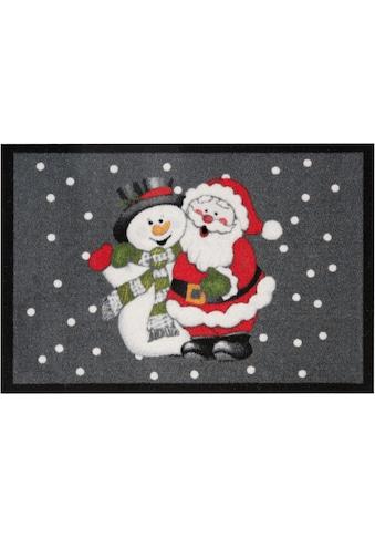 HANSE Home Fußmatte »Santa Snowman«, rechteckig, 7 mm Höhe, Schmutzfangmatte, In- und... kaufen