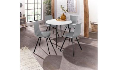 Essgruppe »Dino 2 - Lucky«, (Set, 5 St.), Esstisch mit rundem Esstisch und 4 Stühlen kaufen