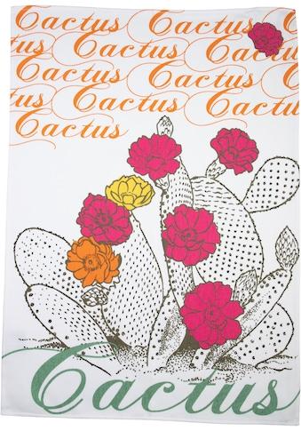 stuco Geschirrtuch »Kaktus«, (Set, 3 tlg.), bedruckt kaufen