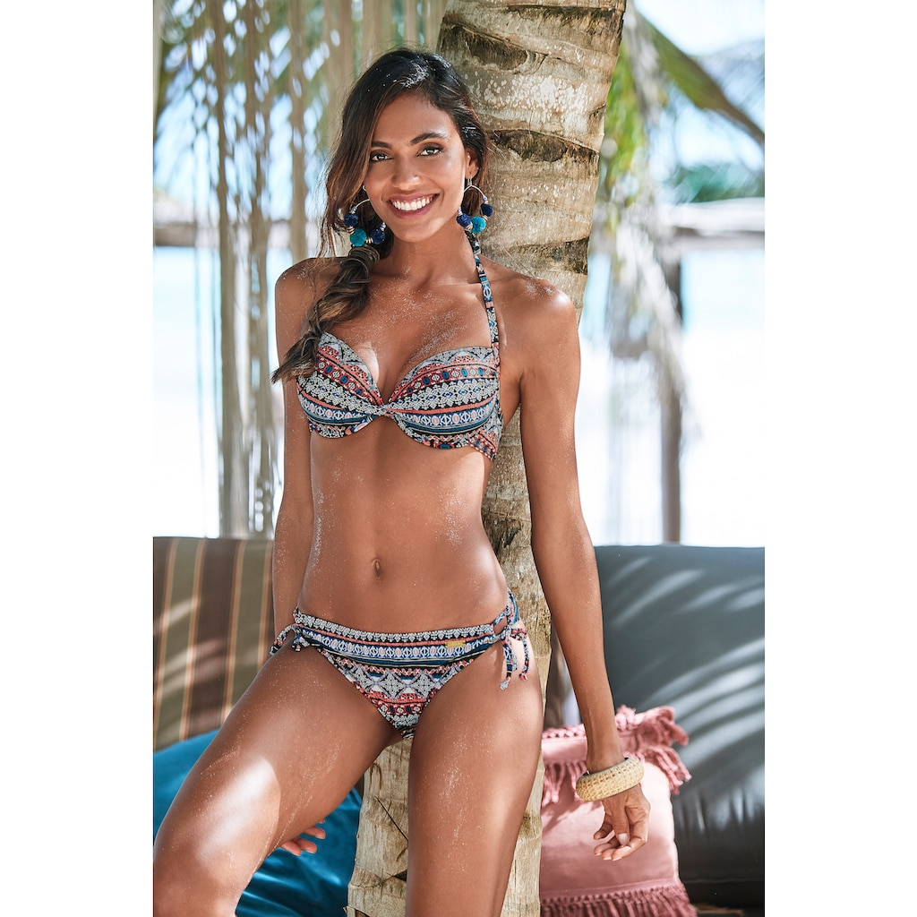LASCANA Push-Up-Bikini-Top »Marrakesh«, mit angesagtem Print