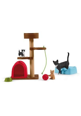 Schleich® Spielfigur »Farm World, Spielspaß für niedliche Katzen (42501)«, (Set) kaufen