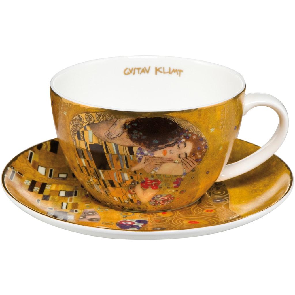 Goebel Cappuccinotasse »Der Kuss«, goldfarben