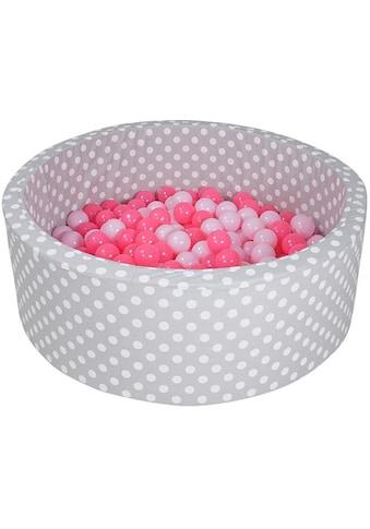 Knorrtoys® Bällebad »Soft, Grey white dots«, mit 300 Bällen soft pink; Made in Europe kaufen