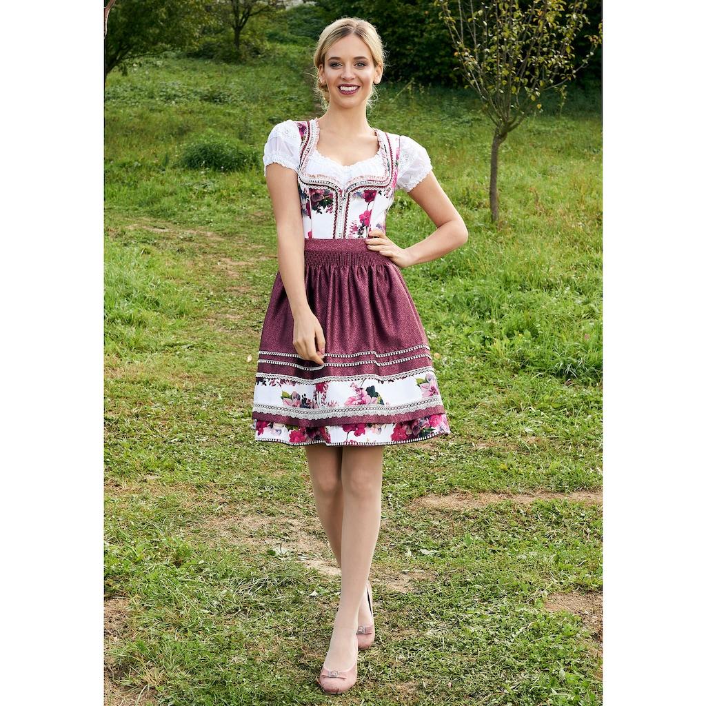Krüger Madl Dirndl »Jessica«, (2 tlg.), kurz mit Rüschen