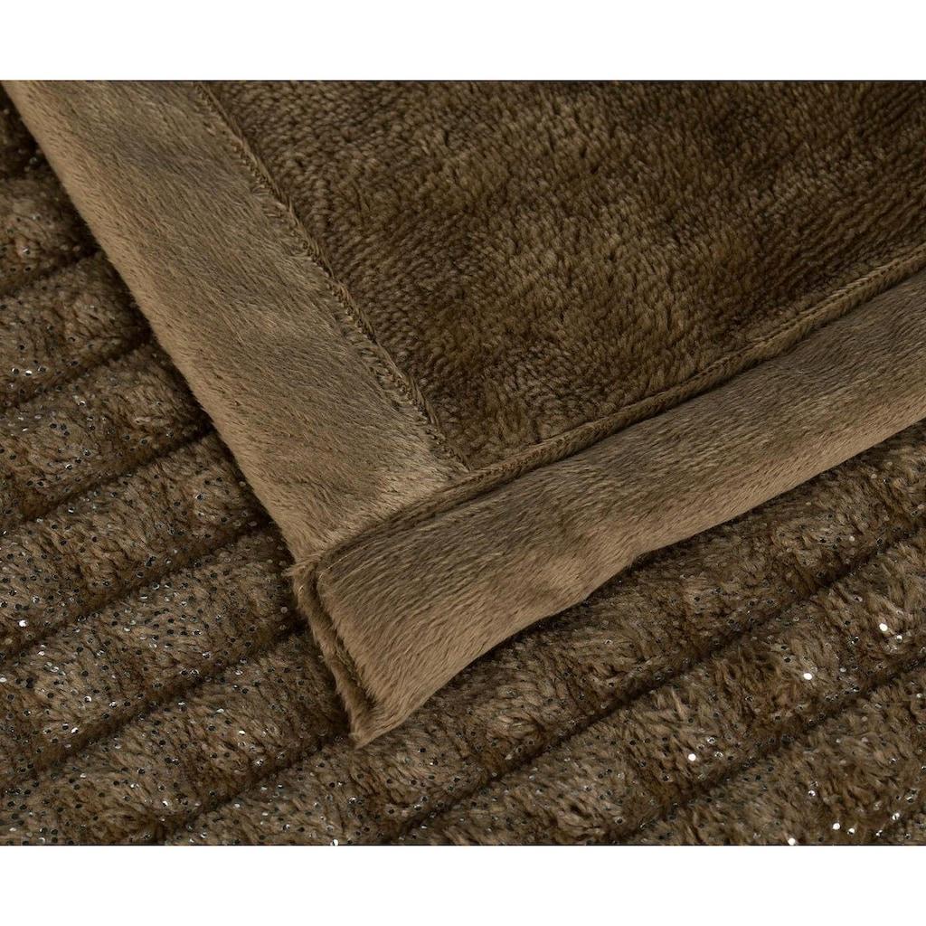 Gözze Wohndecke »Cord-Karo«, mit Glanzeffekt