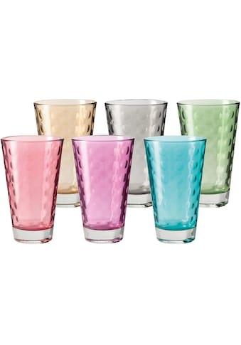 LEONARDO Glas »Optic«, (Set, 6 tlg., 6), Colori Qualität, 300 ml, 6-teilig kaufen