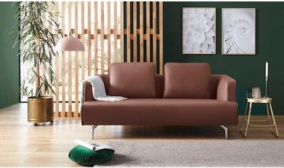 hülsta sofa 3-Sitzer »hs.440«, wahlweise in Stoff oder Leder, Gussfüße poliert kaufen