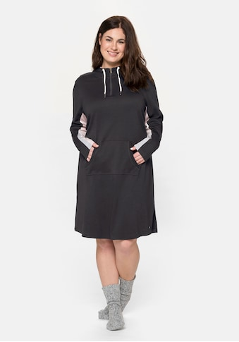 Sheego Sweatkleid, mit Kapuze und Kängurutasche kaufen