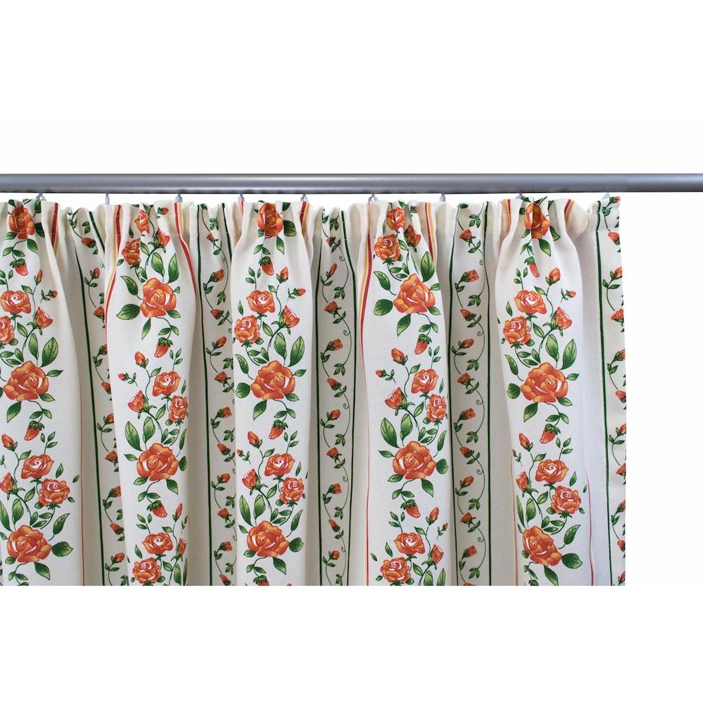 VHG Vorhang nach Maß »Chrissi«, Leinenoptik, Rose, Streifen, Breite 150 cm
