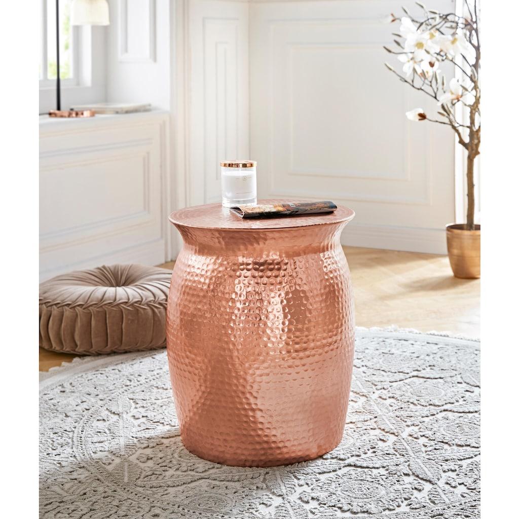 Leonique Couchtisch »Melun«, aus Aluminium, in modernem Design