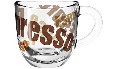 LEONARDO Espressotasse »NAPOLI«, (Set, 6 tlg.), 80 ml, 3-farbig, 6-teilig kaufen